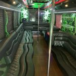 inside the Diamond party bus