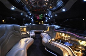 limo interior of Virginia beach Hummer